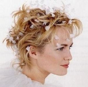 Свадебные прически на короткие волосы - 100 красивых фото 32