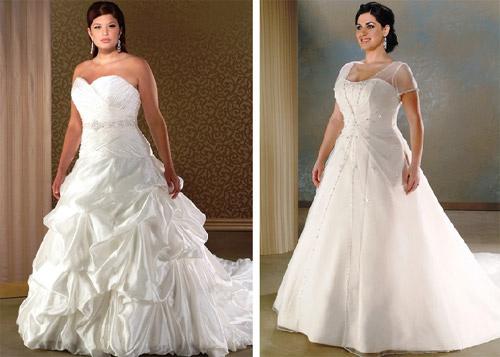 Фото невест полных в свадебных платьях