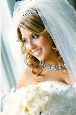 Свадебная прическа с многослойной фатой подходит невестам, чье платье и свадебная церемония соответствует стилю барокко: то есть будет проходить пышно