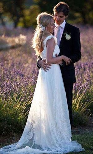 Платье для свадьбы в стиле прованс