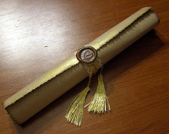Как сделать свиток из бумаги