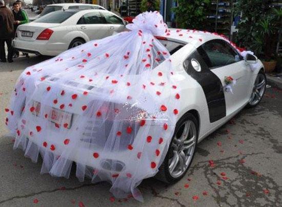 Как украсить машину на свадьбу фото 10