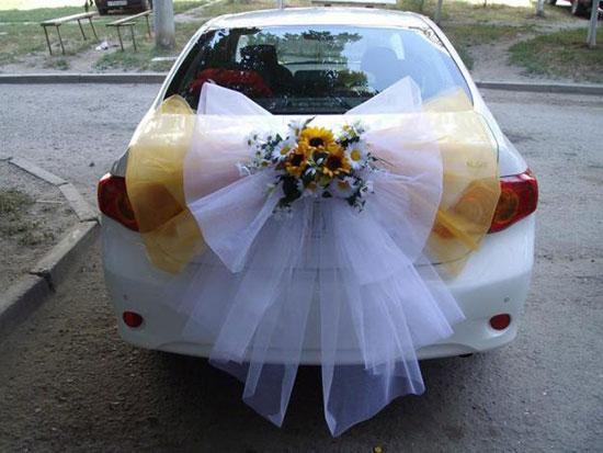 Как сделать украшение для свадебной машины своими руками