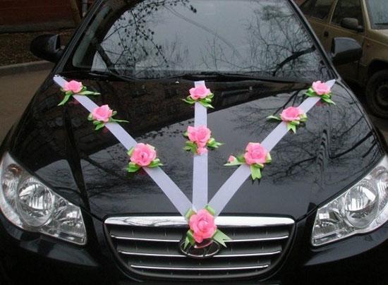 Украшение лентами свадебных машин своими руками