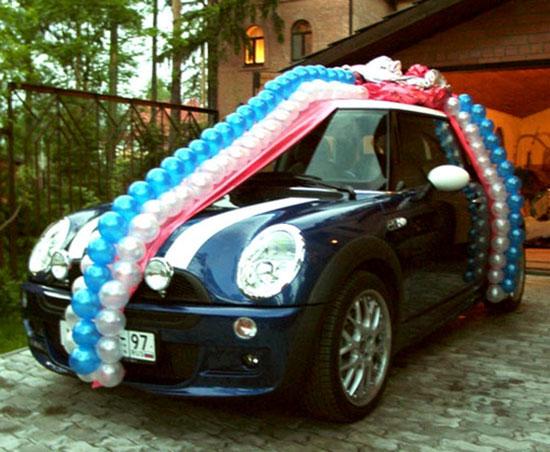 Как украсить машину на свадьбу фото 16