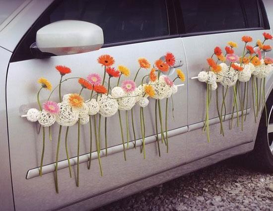 Как украсить машину на свадьбу фото 7