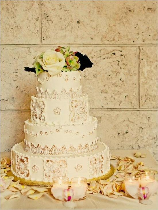 Фото торт на свадьбе в стиле винтаж
