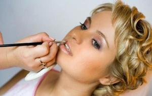 свадебный макияж для зеленых глаз - помада