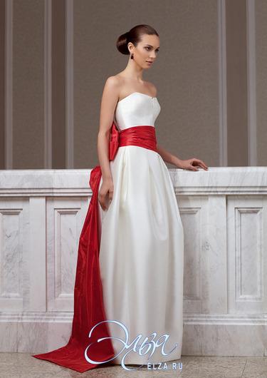 Wedding Saloon :: Белое свадебное платье с красной лентой