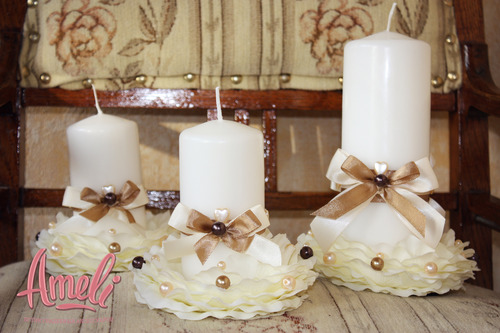 Как оформить свечу на свадьбу своими руками