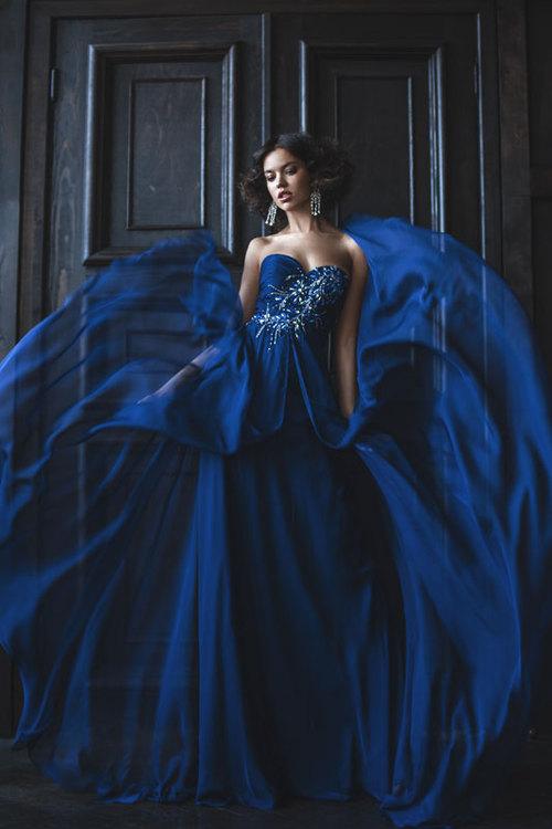Свадебное синее платье фото